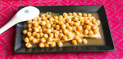 Chinese food - Tofu and braised chickpeas