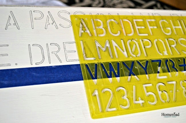 A Lettered Table Top With Important Tips using a children's stencil