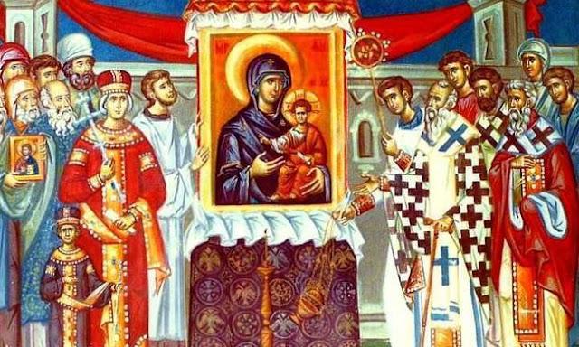 Κυριακή της Ορθοδοξίας στον Άγιο Δημήτριο Λουμπαρδιάρη (φωτογραφίες)