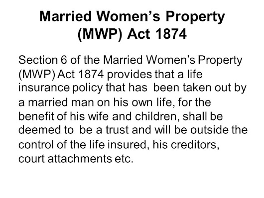 married woman s property act An act to consolidate and amend the acts relating to the property of married women.