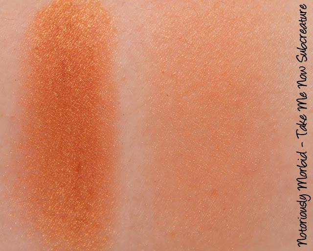 Notoriously Morbid Take Me Now, Subcreature Blush Swatches & Review