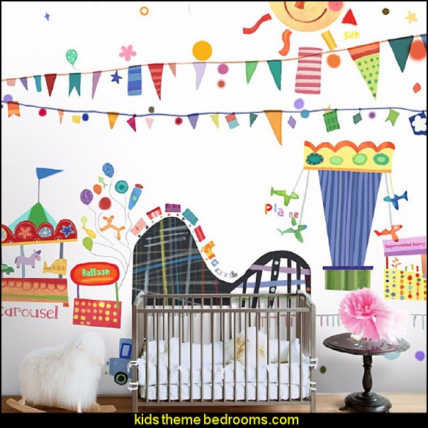 circus carinval Children's Paradise Art Wallpaper Nonwoven large mural children's room baby room playground