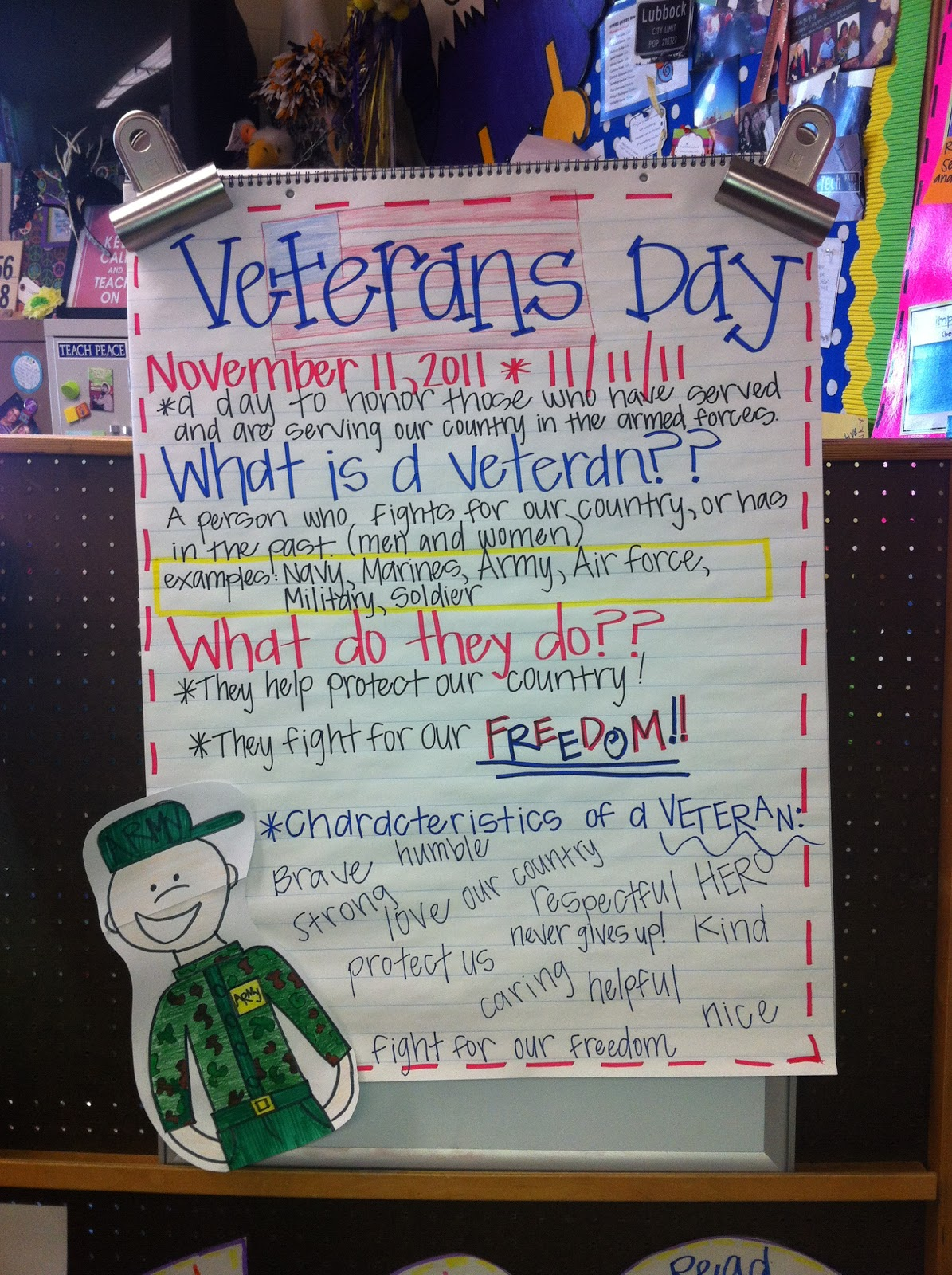 A Day In The Life Of Miss Kranz Thank You Veterans