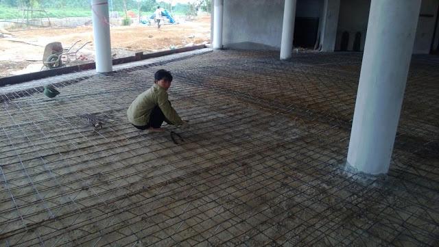 Thép không gian 3d làm nền nhà