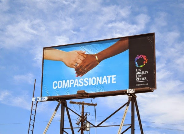 Compassionate Los Angeles LGBT Center billboard