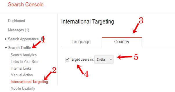 Google Search Console Me International Targeting Country Kaise Set Karte Hai.
