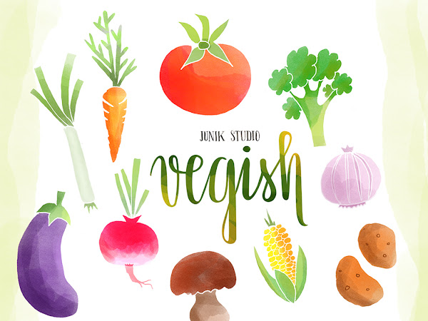 Download 10 Watercolor Vegetables PNG Free