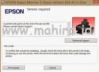 Reseter Printer Epson L810 Service Required