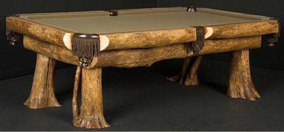 Ironwood billiard Table By Viking Log Furniture