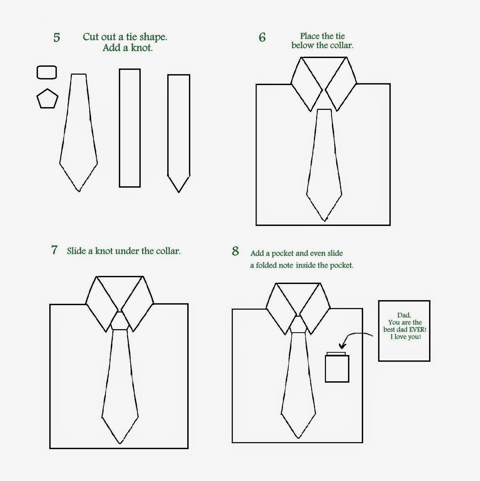 Art Class Ideas Fathers Day Shirt Card