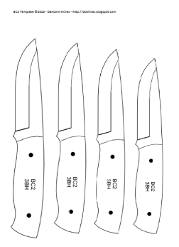 Drop Point Hunting Knife Template Images