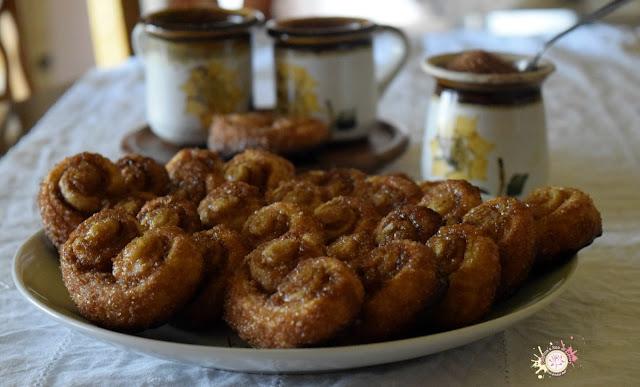 Palmeritas dulces con azúcar de caña