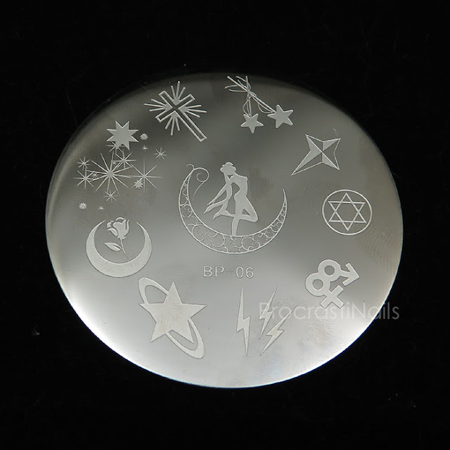 Image of BP 06 Stamping Image Plate with Sailor Moon Designs