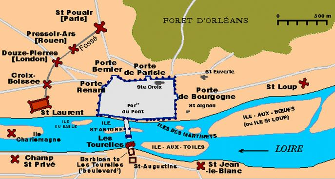 siege of orleans map