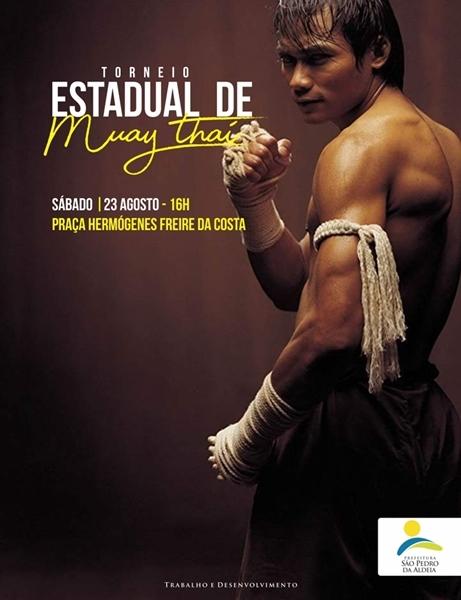 Torneio Estadual de Muay Thai agita São Pedro da Aldeia neste sábado (25/08)