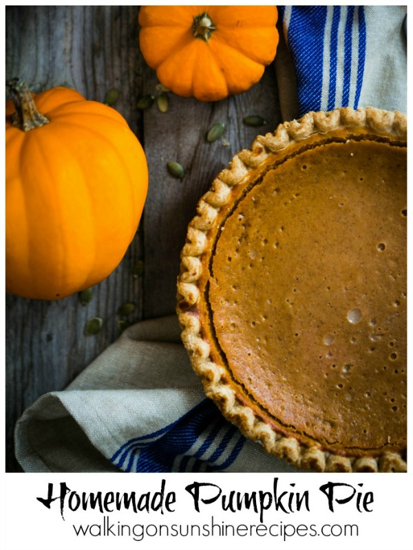 Homemade Pumpkin Pie from Walking on Sunshine Recipes