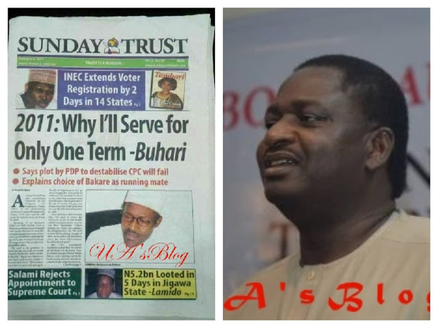 Report on Buhari's one-term presidency a misquote –Adesina