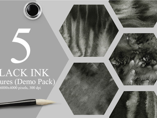 Download 5 Elegant Black Ink Textures Free