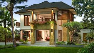 Model Rumah Minimalis Tampak Depan dengan Menggunakan Batu Alam