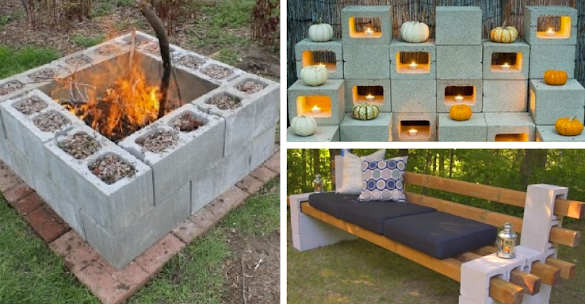 12 Awesome Projects For Around Your Home Using Cinder Blocks