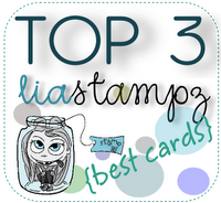 I made top 3 at Lia stampz  for my OSAAT DT valentine card 2012