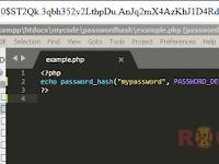 Tutorial Menggunakan password_hash dan password_verify
