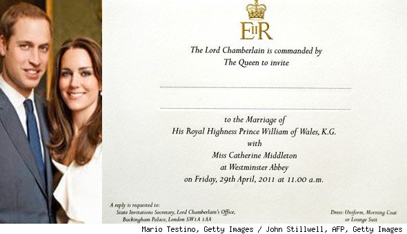 Royal Wedding Invitation Wording: The Fame Fairy: The Royal Wedding Invitations Are In The Mail