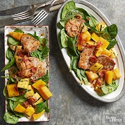 Delicata Squash Salad with Pork Medallions