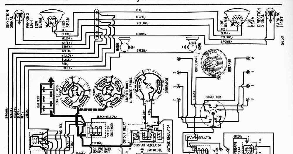Proa: 1956 Plymouth V8 All Models Wiring Diagram