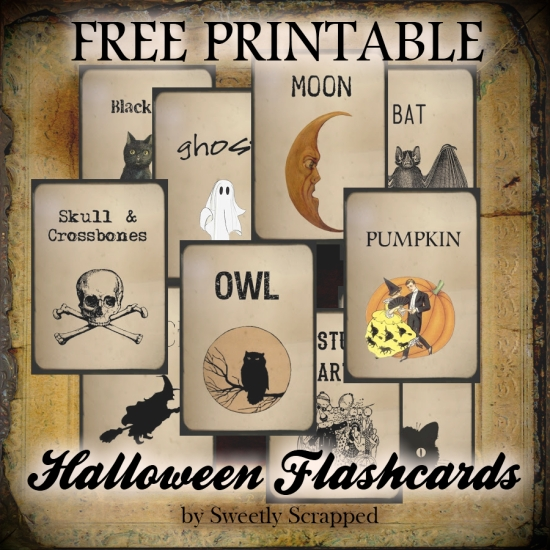 Sweetly Scrapped Free Printable Halloween Flash Cards