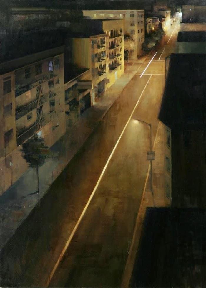 Мрачные городские пейзажи. Kim Cogan