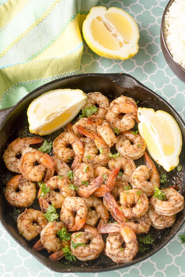 Easy Stove Top Jerk Shrimp