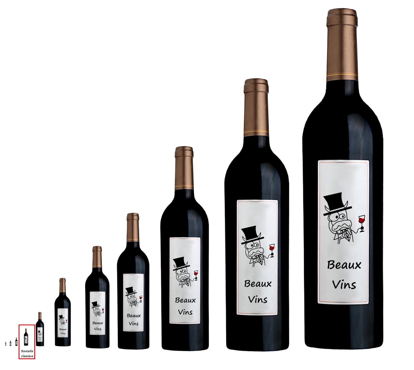 beaux vins quels sont les noms et tailles des bouteilles de vin. Black Bedroom Furniture Sets. Home Design Ideas