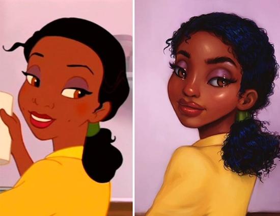 Personagens Desenhos Isabelle Staub - Tiana de A Princesa e o Sapo