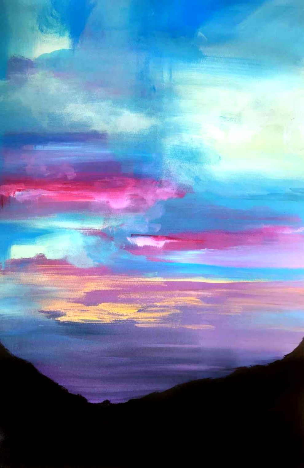 Landscape Oil Painting Simple Cool Wallpapers Soft Wallpapers