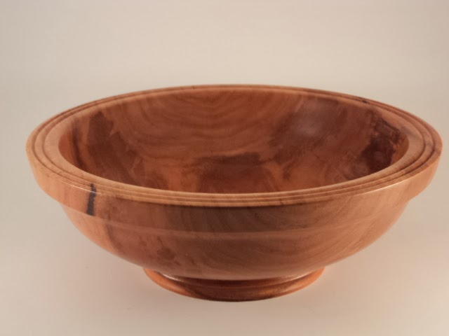 Wood Turned Bowls  Large Hickory Salad Bowl