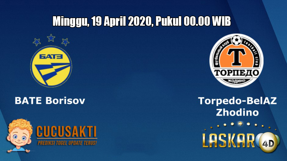Prediksi Bate Borisov VS Torpedo Zhodino 19 April 2020
