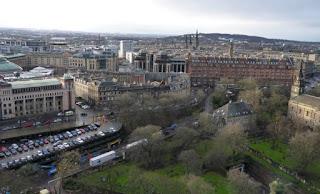 Vistas desde el Castillo de Edimburgo.