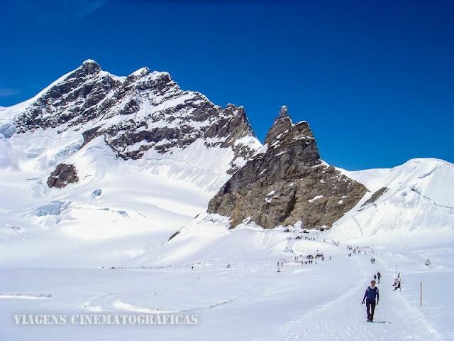 Andar na Neve na Suíça