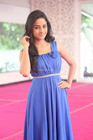 Divya Nandini stunning Beauty in blue Dress at Trendz Exhibition Launch ~  Celebrities Galleries 080.JPG