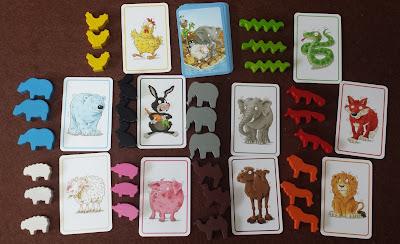 いかだ動物園 Zoowaboo 動物カードとコマ