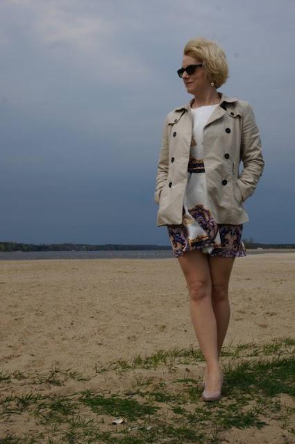 Multikolorowa sukienka vintage Shein.com