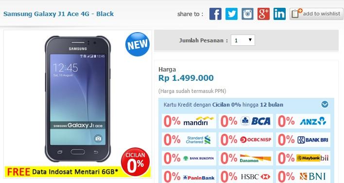 Harga Dan Promo Samsung Galaxy J1 Ace Terbaru
