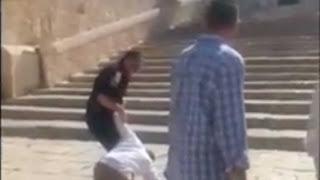 rugăciune pe muntele Templului din Ierusalim - 19 iulie 2017, imagine preluată din youtube.com