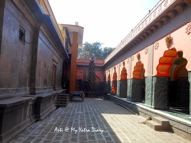 The pradakshina marg at the Bhairavnath temple, Saswad, Pune, Maharashtra