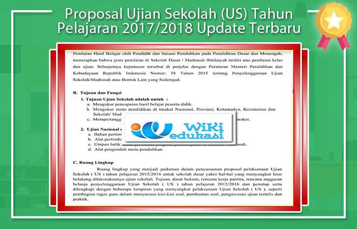 Proposal Ujian Sekolah SD 2017