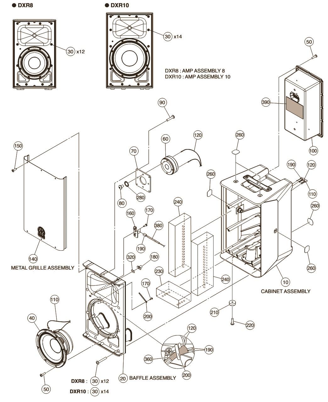 Schematic Diagrams Yamaha Dxr8 Dxr10 Dxr12 Dxr15