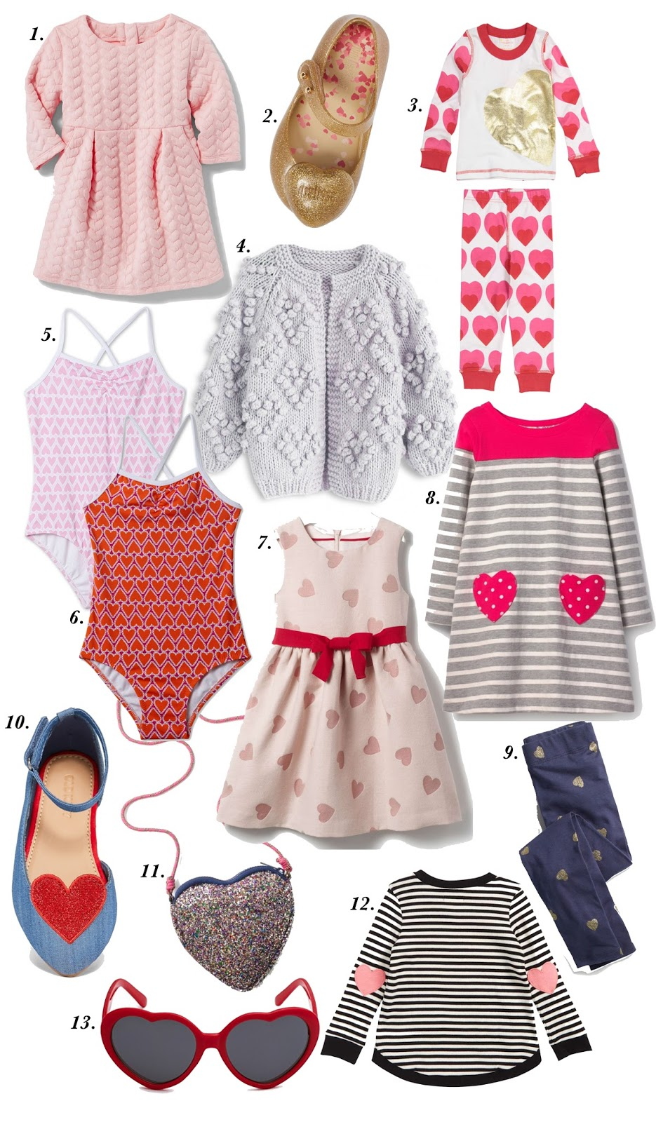 Heart Items for Girls - Toddler Fashion - See more on Something Delightful Blog