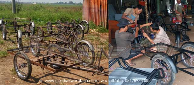 perakitan gerobak sepeda bandung
