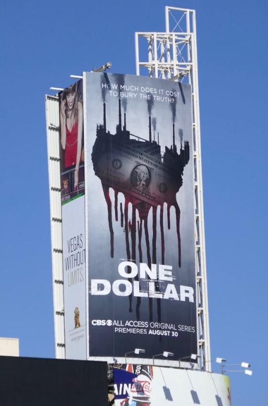 One Dollar series launch billboard